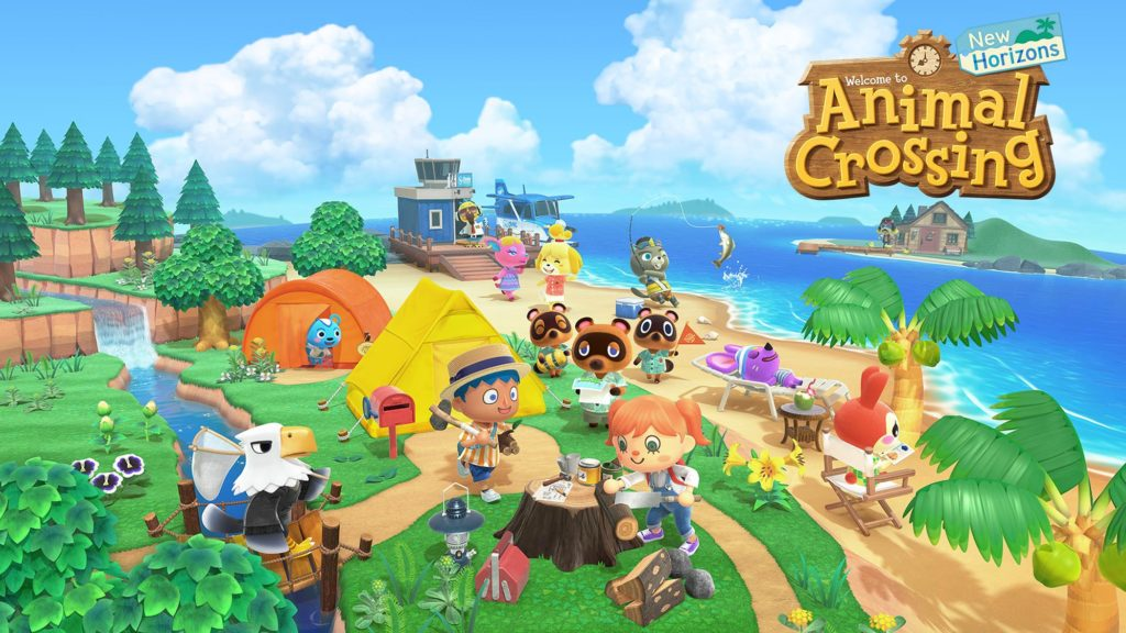 the title screen for the animal crossing game
